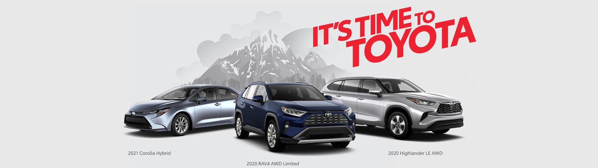 It's Time To Toyota Promo Banner